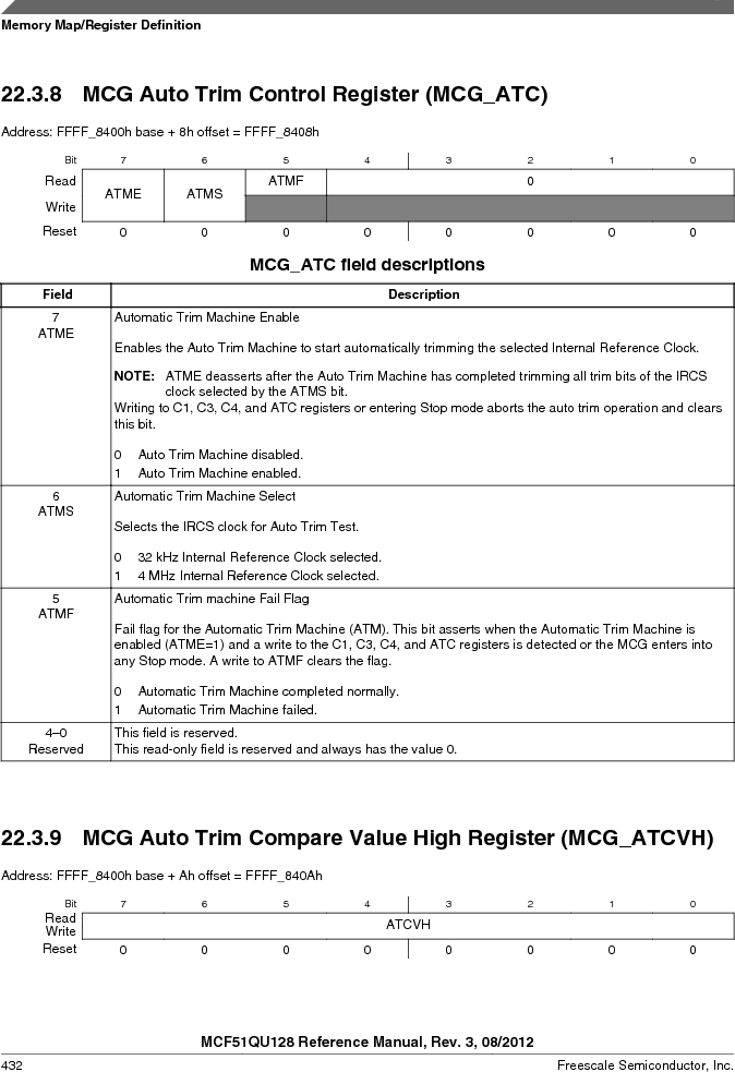 MCF51QU32VHS ,Freescale Semiconductor厂商,IC MCU 32BIT 32K FLASH 44LGA, MCF51QU32VHS datasheet预览  第432页
