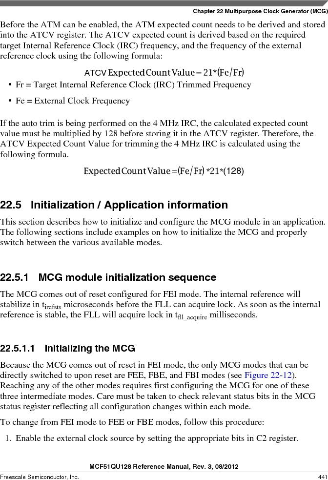 MCF51QU32VHS ,Freescale Semiconductor厂商,IC MCU 32BIT 32K FLASH 44LGA, MCF51QU32VHS datasheet预览  第441页