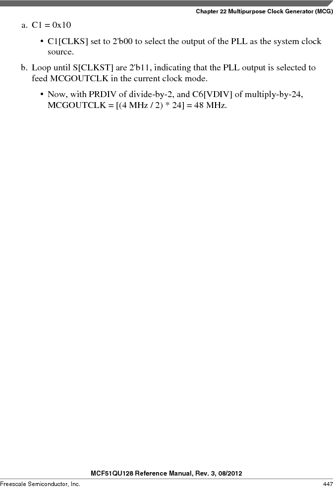 MCF51QU32VHS ,Freescale Semiconductor厂商,IC MCU 32BIT 32K FLASH 44LGA, MCF51QU32VHS datasheet预览  第447页