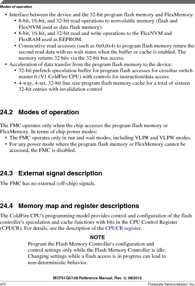 MCF51QU32VHS ,Freescale Semiconductor厂商,IC MCU 32BIT 32K FLASH 44LGA, MCF51QU32VHS datasheet预览  第470页