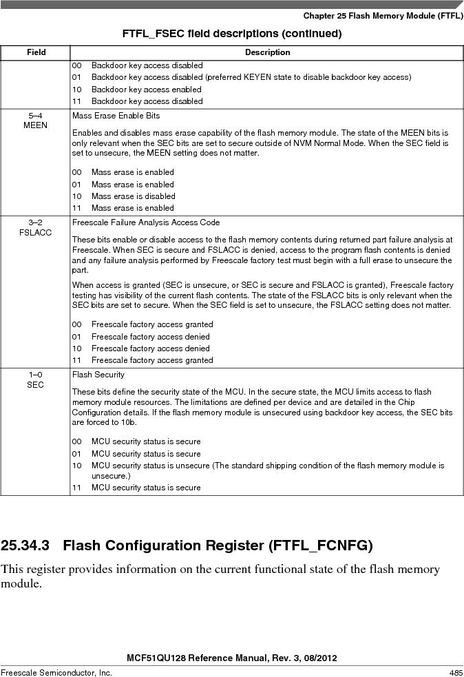 MCF51QU32VHS ,Freescale Semiconductor厂商,IC MCU 32BIT 32K FLASH 44LGA, MCF51QU32VHS datasheet预览  第485页