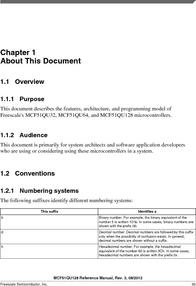 MCF51QU32VHS ,Freescale Semiconductor厂商,IC MCU 32BIT 32K FLASH 44LGA, MCF51QU32VHS datasheet预览  第55页