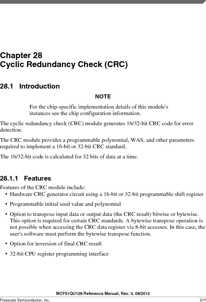 MCF51QU32VHS ,Freescale Semiconductor厂商,IC MCU 32BIT 32K FLASH 44LGA, MCF51QU32VHS datasheet预览  第577页