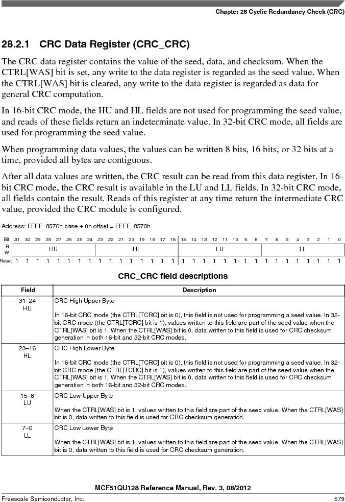 MCF51QU32VHS ,Freescale Semiconductor厂商,IC MCU 32BIT 32K FLASH 44LGA, MCF51QU32VHS datasheet预览  第579页