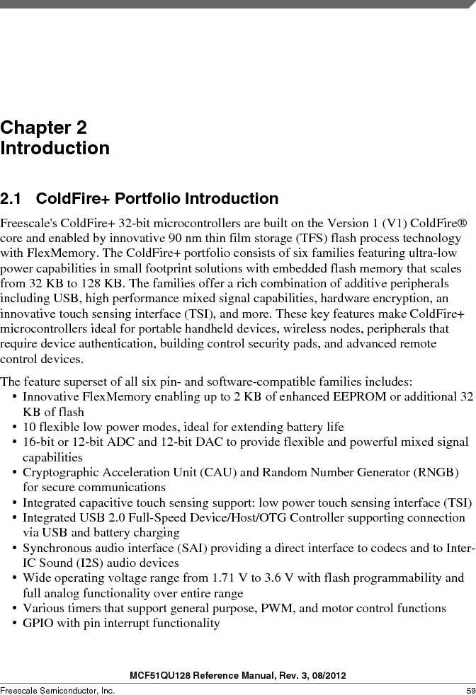 MCF51QU32VHS ,Freescale Semiconductor厂商,IC MCU 32BIT 32K FLASH 44LGA, MCF51QU32VHS datasheet预览  第59页