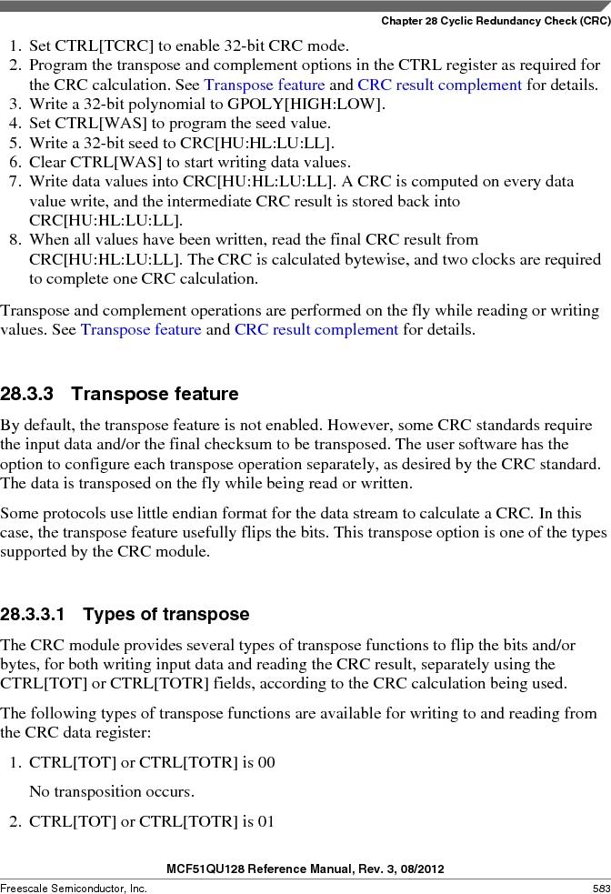 MCF51QU32VHS ,Freescale Semiconductor厂商,IC MCU 32BIT 32K FLASH 44LGA, MCF51QU32VHS datasheet预览  第583页