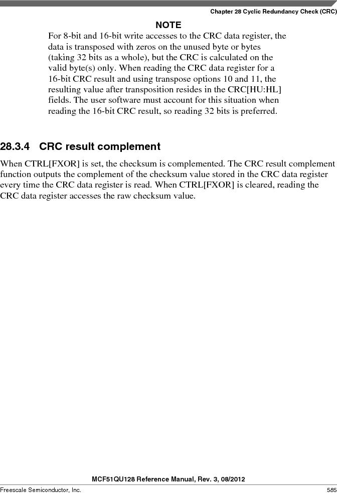MCF51QU32VHS ,Freescale Semiconductor厂商,IC MCU 32BIT 32K FLASH 44LGA, MCF51QU32VHS datasheet预览  第585页