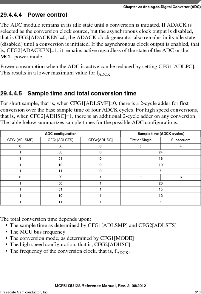 MCF51QU32VHS ,Freescale Semiconductor厂商,IC MCU 32BIT 32K FLASH 44LGA, MCF51QU32VHS datasheet预览  第613页