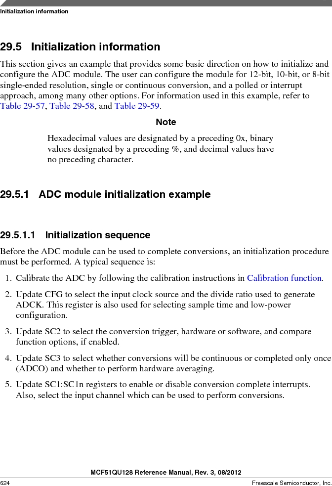 MCF51QU32VHS ,Freescale Semiconductor厂商,IC MCU 32BIT 32K FLASH 44LGA, MCF51QU32VHS datasheet预览  第624页