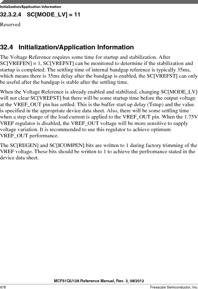 MCF51QU32VHS ,Freescale Semiconductor厂商,IC MCU 32BIT 32K FLASH 44LGA, MCF51QU32VHS datasheet预览  第678页