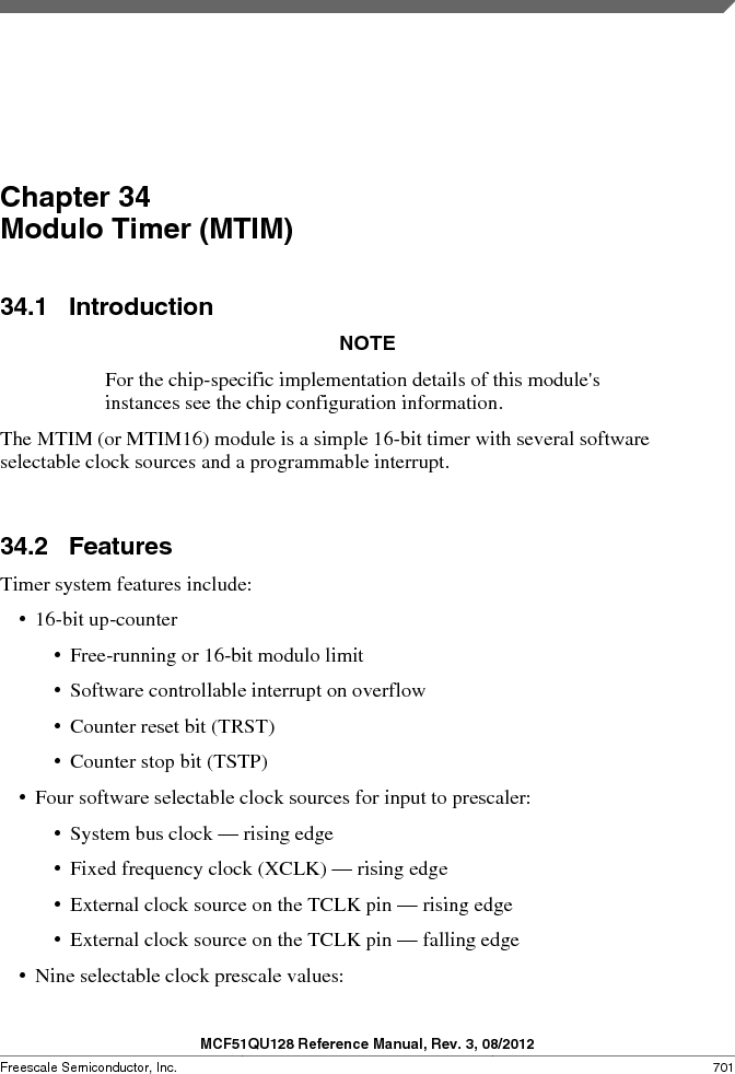 MCF51QU32VHS ,Freescale Semiconductor厂商,IC MCU 32BIT 32K FLASH 44LGA, MCF51QU32VHS datasheet预览  第701页