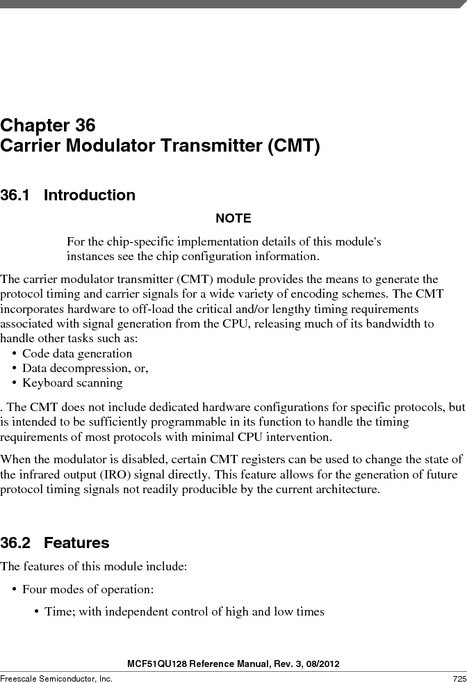 MCF51QU32VHS ,Freescale Semiconductor厂商,IC MCU 32BIT 32K FLASH 44LGA, MCF51QU32VHS datasheet预览  第725页