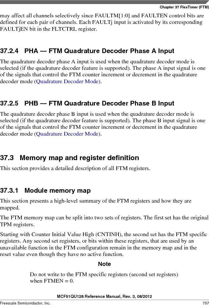 MCF51QU32VHS ,Freescale Semiconductor厂商,IC MCU 32BIT 32K FLASH 44LGA, MCF51QU32VHS datasheet预览  第757页