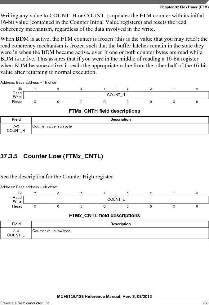 MCF51QU32VHS ,Freescale Semiconductor厂商,IC MCU 32BIT 32K FLASH 44LGA, MCF51QU32VHS datasheet预览  第763页