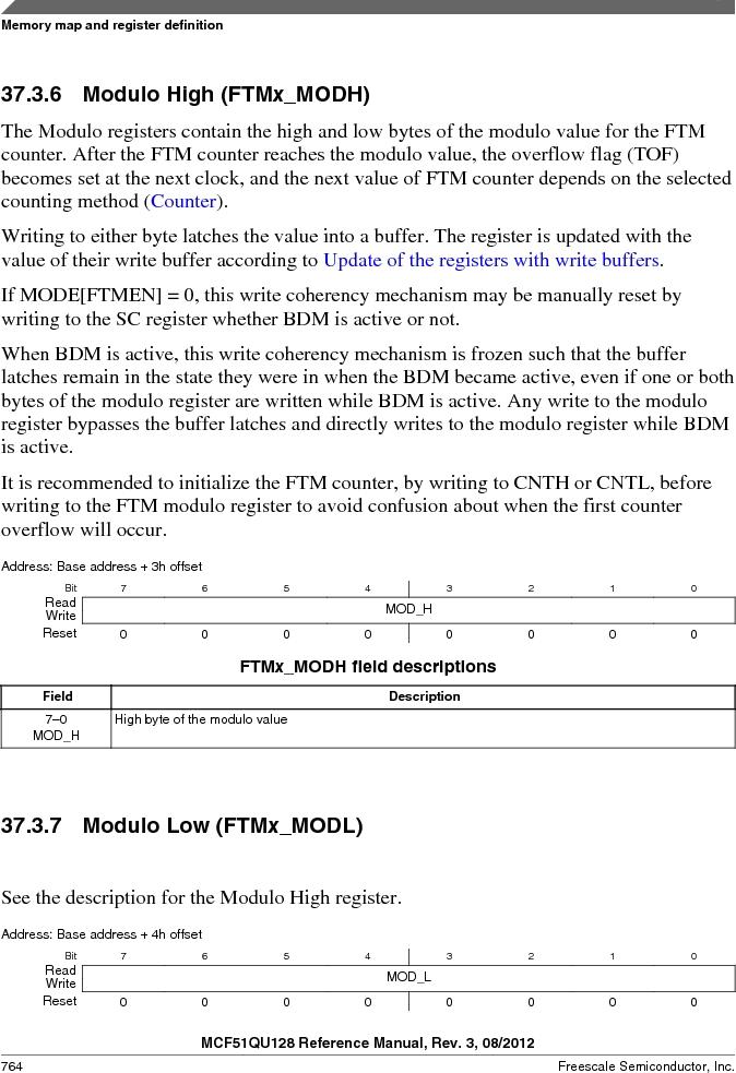 MCF51QU32VHS ,Freescale Semiconductor厂商,IC MCU 32BIT 32K FLASH 44LGA, MCF51QU32VHS datasheet预览  第764页