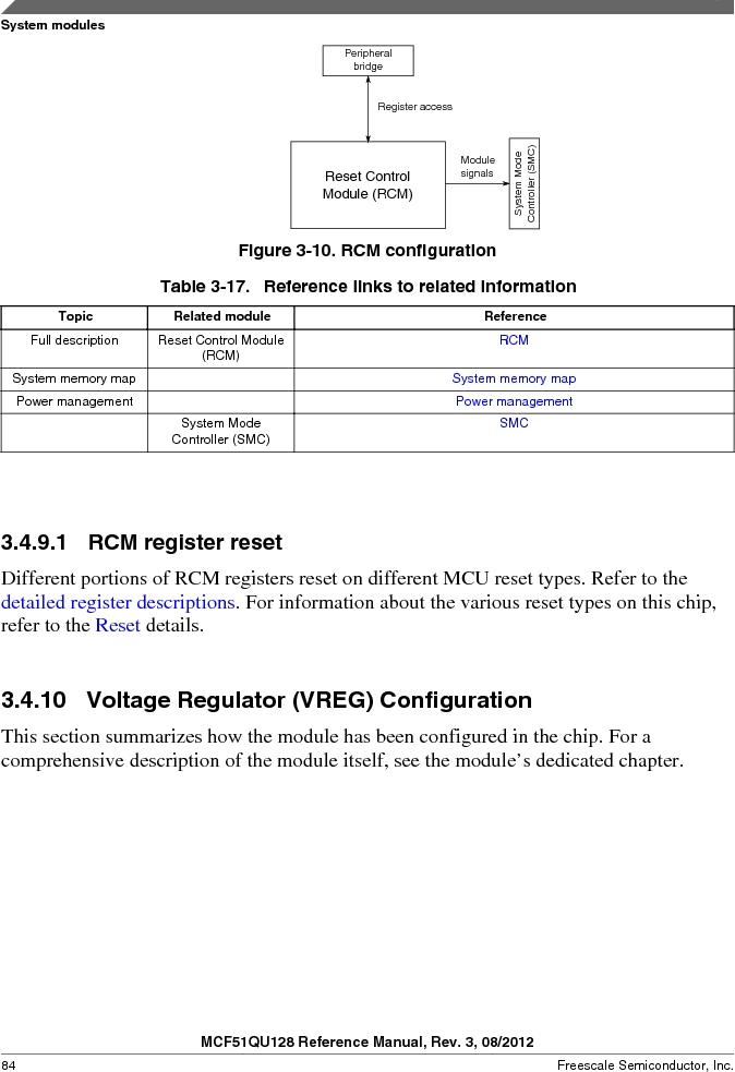 MCF51QU32VHS ,Freescale Semiconductor厂商,IC MCU 32BIT 32K FLASH 44LGA, MCF51QU32VHS datasheet预览  第84页