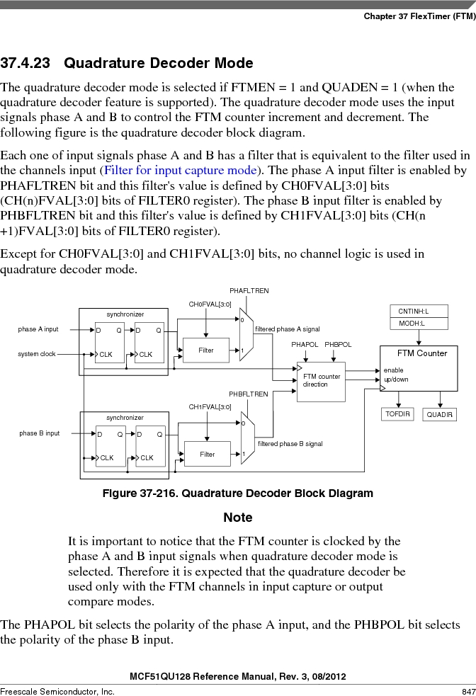 MCF51QU32VHS ,Freescale Semiconductor厂商,IC MCU 32BIT 32K FLASH 44LGA, MCF51QU32VHS datasheet预览  第847页