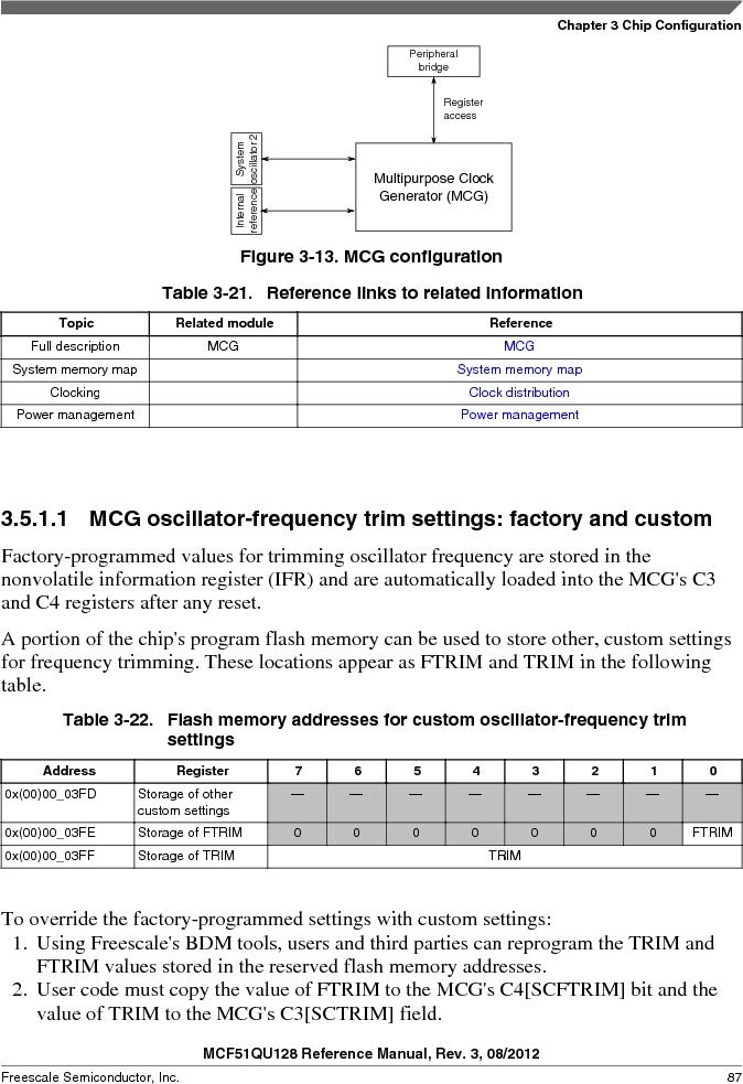 MCF51QU32VHS ,Freescale Semiconductor厂商,IC MCU 32BIT 32K FLASH 44LGA, MCF51QU32VHS datasheet预览  第87页