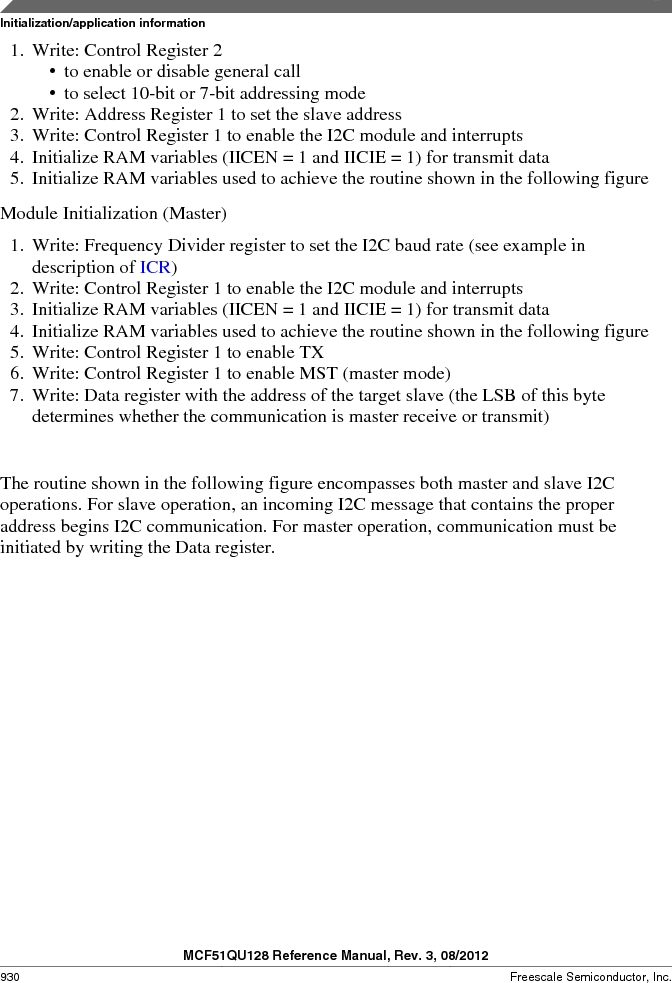 MCF51QU32VHS ,Freescale Semiconductor厂商,IC MCU 32BIT 32K FLASH 44LGA, MCF51QU32VHS datasheet预览  第930页