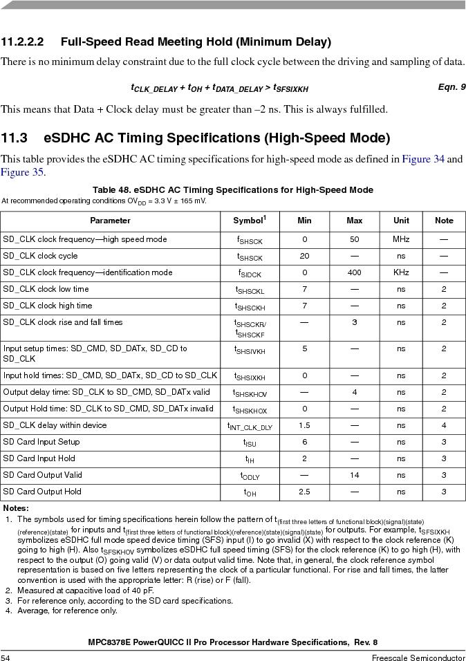 MPC8378VRAGDA ,Freescale Semiconductor厂商,MPU POWERQUICC II 400MHZ 689PBGA, MPC8378VRAGDA datasheet预览  第54页