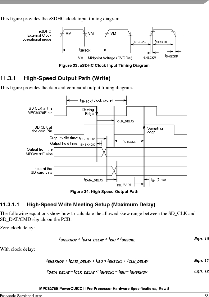 MPC8378VRAGDA ,Freescale Semiconductor厂商,MPU POWERQUICC II 400MHZ 689PBGA, MPC8378VRAGDA datasheet预览  第55页