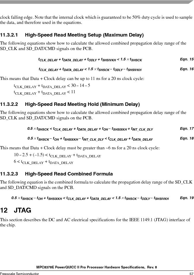 MPC8378VRAGDA ,Freescale Semiconductor厂商,MPU POWERQUICC II 400MHZ 689PBGA, MPC8378VRAGDA datasheet预览  第57页