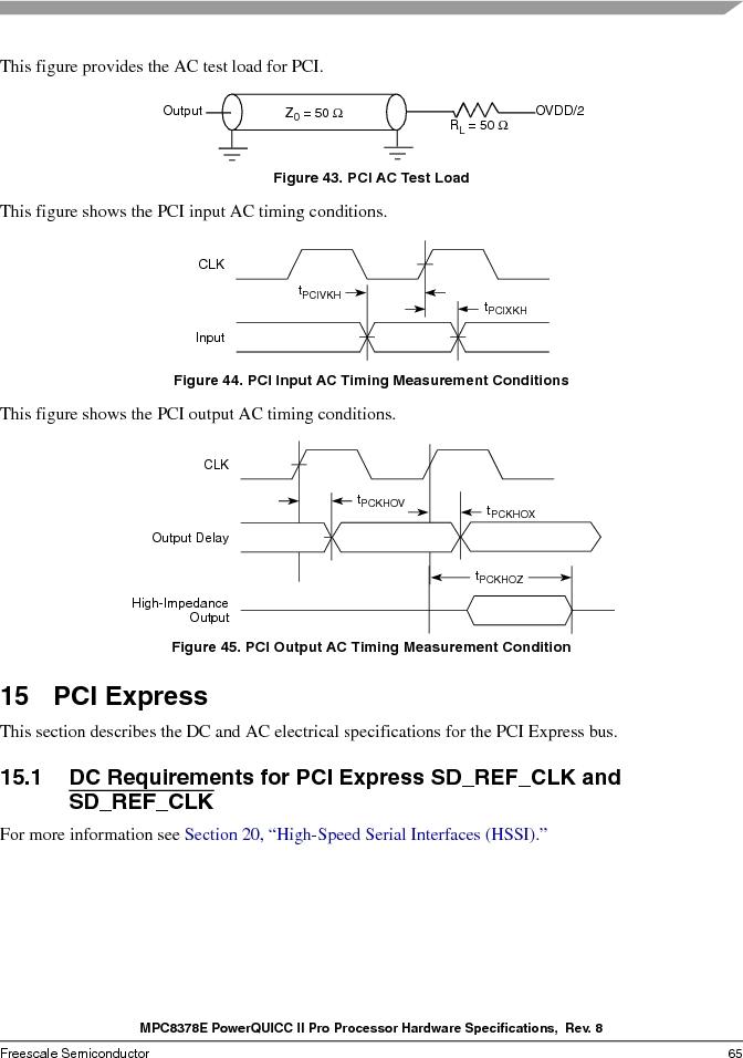 MPC8378VRAGDA ,Freescale Semiconductor厂商,MPU POWERQUICC II 400MHZ 689PBGA, MPC8378VRAGDA datasheet预览  第65页