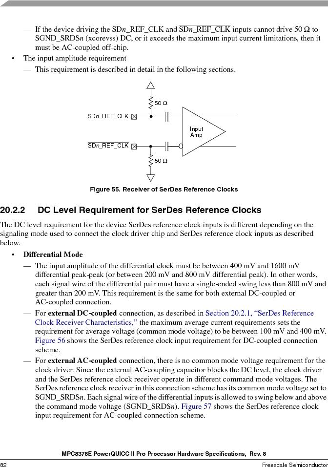 MPC8378VRAGDA ,Freescale Semiconductor厂商,MPU POWERQUICC II 400MHZ 689PBGA, MPC8378VRAGDA datasheet预览  第82页