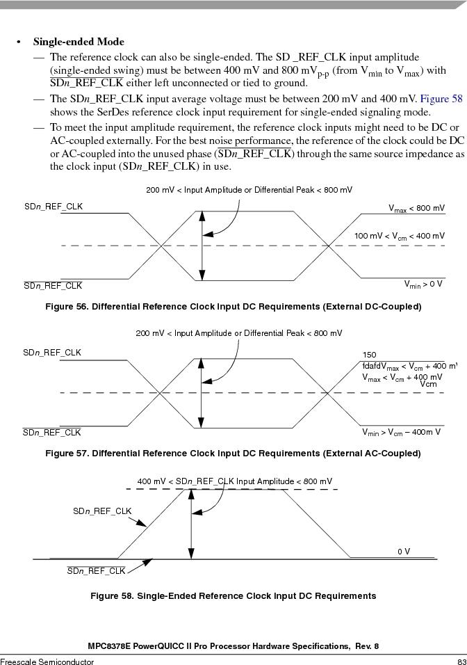 MPC8378VRAGDA ,Freescale Semiconductor厂商,MPU POWERQUICC II 400MHZ 689PBGA, MPC8378VRAGDA datasheet预览  第83页