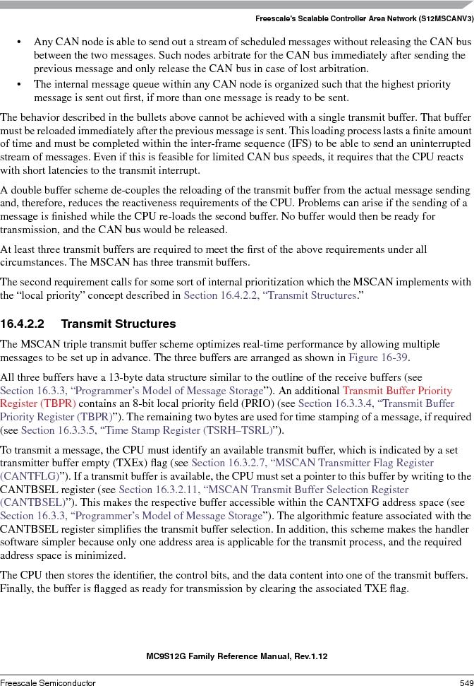 S9S12GA240F0MLL ,Freescale Semiconductor厂商,IC MCU 16BIT 240KB FLASH 100LQFP, S9S12GA240F0MLL datasheet预览  第549页