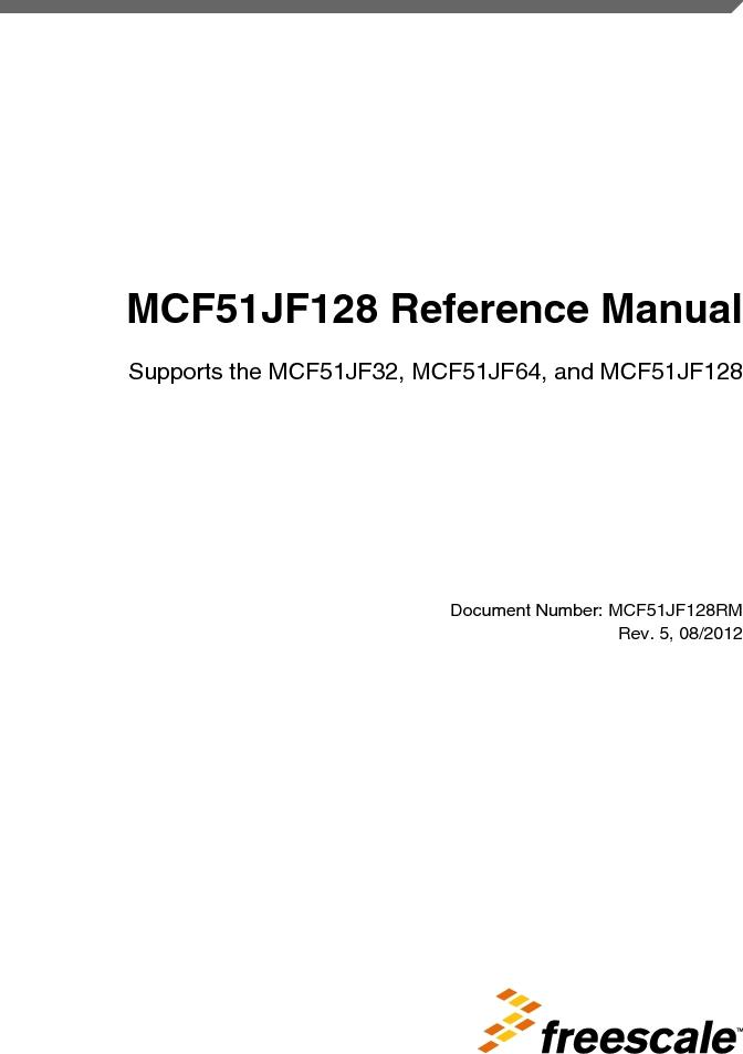 MCF51JF32VHS ,Freescale Semiconductor厂商,IC MCU 32BIT 32KB FLASH 44LGA, MCF51JF32VHS datasheet预览  第1页