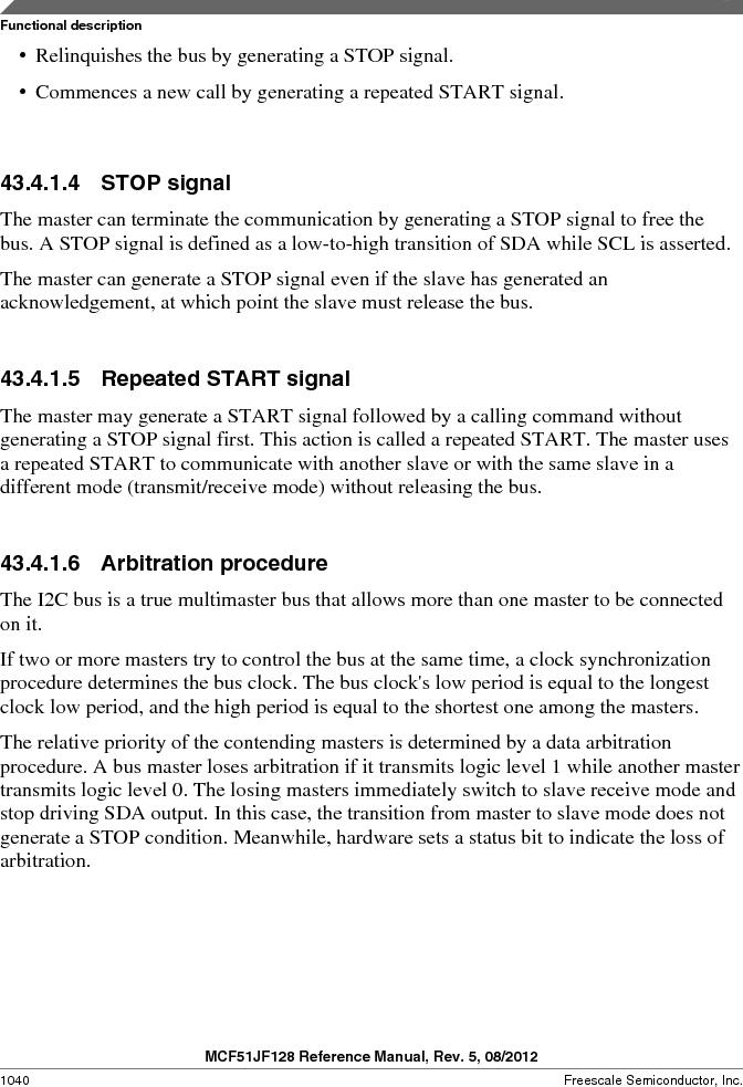 MCF51JF32VHS ,Freescale Semiconductor厂商,IC MCU 32BIT 32KB FLASH 44LGA, MCF51JF32VHS datasheet预览  第1040页