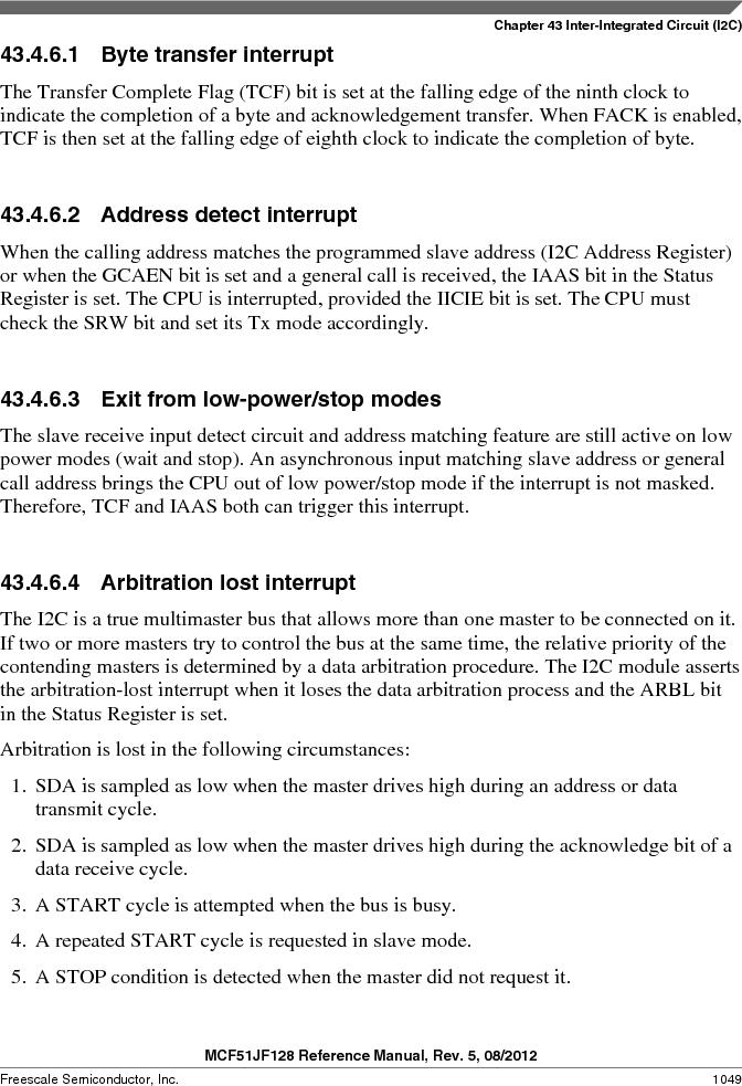 MCF51JF32VHS ,Freescale Semiconductor厂商,IC MCU 32BIT 32KB FLASH 44LGA, MCF51JF32VHS datasheet预览  第1049页