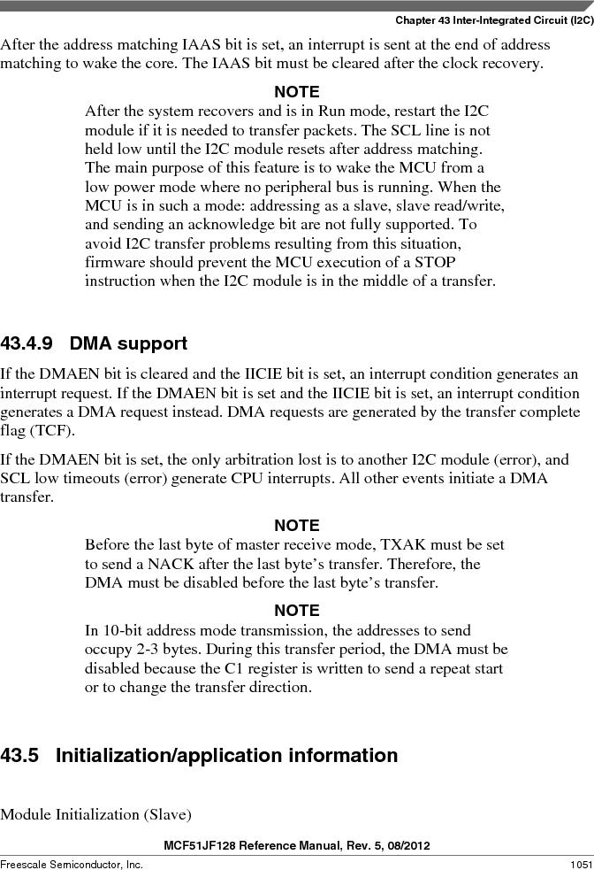 MCF51JF32VHS ,Freescale Semiconductor厂商,IC MCU 32BIT 32KB FLASH 44LGA, MCF51JF32VHS datasheet预览  第1051页