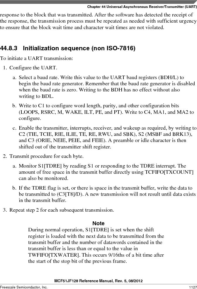 MCF51JF32VHS ,Freescale Semiconductor厂商,IC MCU 32BIT 32KB FLASH 44LGA, MCF51JF32VHS datasheet预览  第1127页