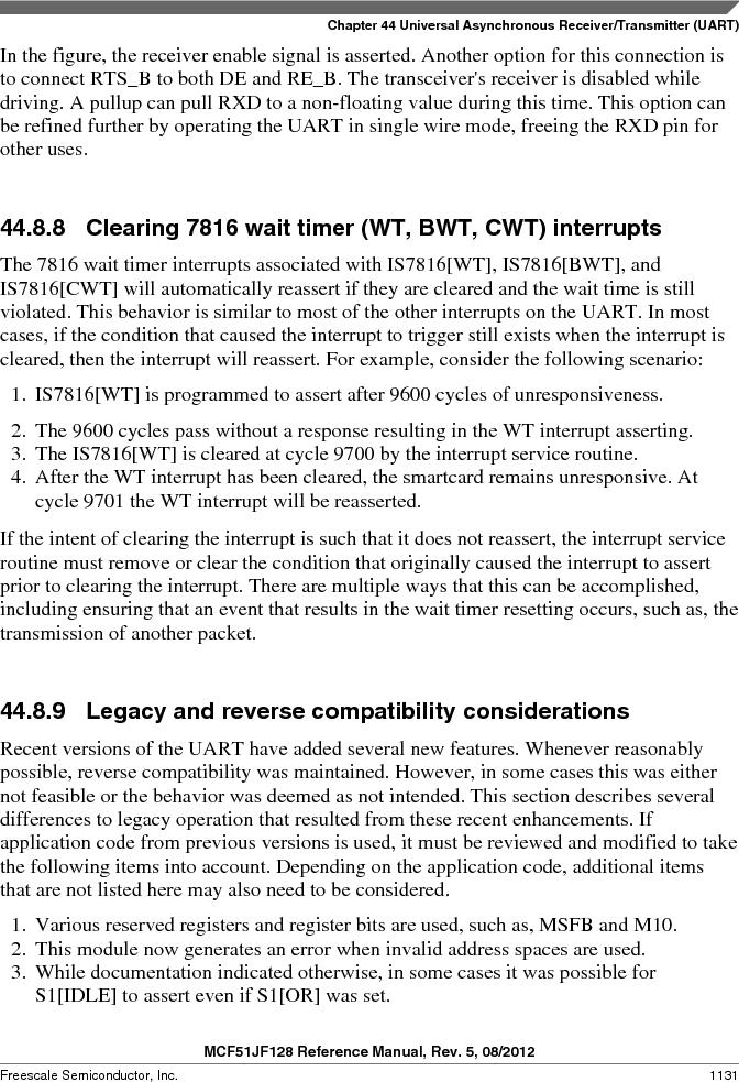 MCF51JF32VHS ,Freescale Semiconductor厂商,IC MCU 32BIT 32KB FLASH 44LGA, MCF51JF32VHS datasheet预览  第1131页