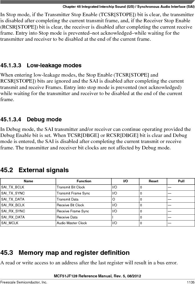 MCF51JF32VHS ,Freescale Semiconductor厂商,IC MCU 32BIT 32KB FLASH 44LGA, MCF51JF32VHS datasheet预览  第1135页
