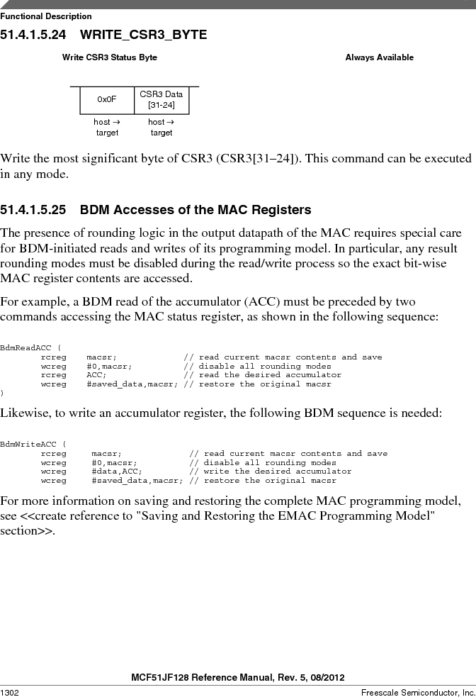 MCF51JF32VHS ,Freescale Semiconductor厂商,IC MCU 32BIT 32KB FLASH 44LGA, MCF51JF32VHS datasheet预览  第1302页