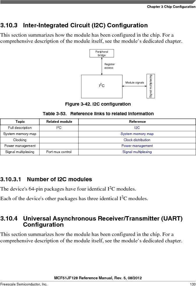 MCF51JF32VHS ,Freescale Semiconductor厂商,IC MCU 32BIT 32KB FLASH 44LGA, MCF51JF32VHS datasheet预览  第133页