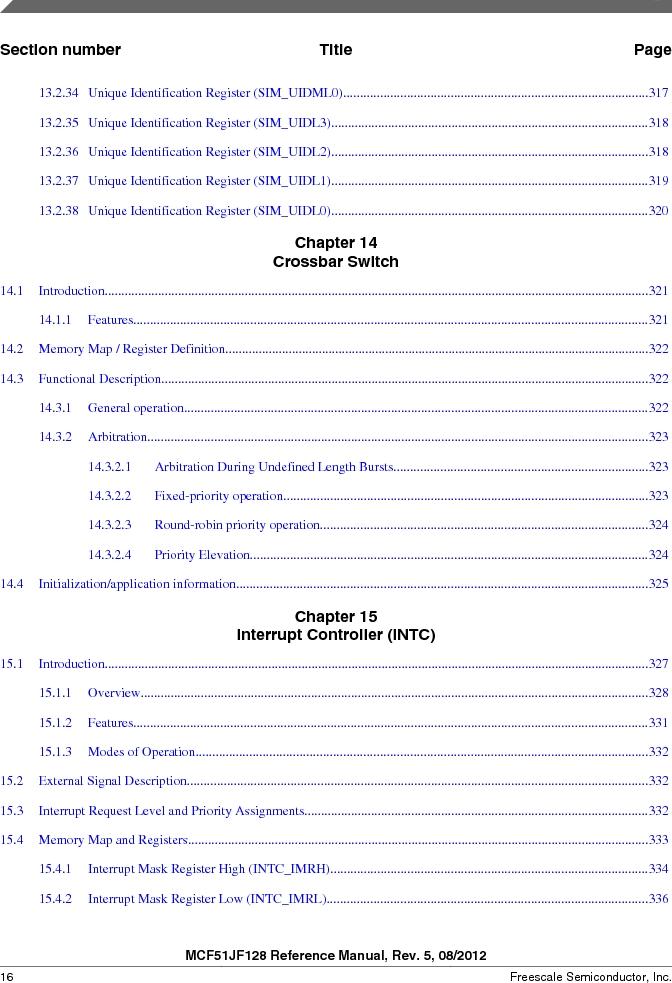 MCF51JF32VHS ,Freescale Semiconductor厂商,IC MCU 32BIT 32KB FLASH 44LGA, MCF51JF32VHS datasheet预览  第16页