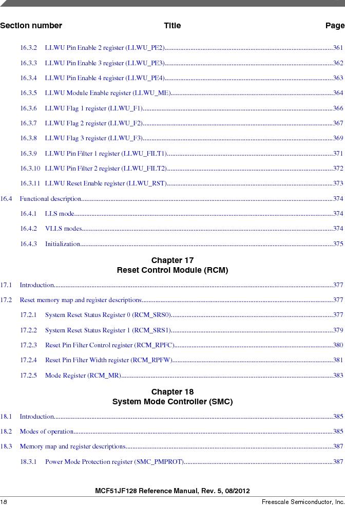 MCF51JF32VHS ,Freescale Semiconductor厂商,IC MCU 32BIT 32KB FLASH 44LGA, MCF51JF32VHS datasheet预览  第18页