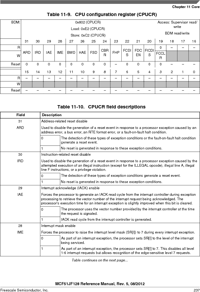MCF51JF32VHS ,Freescale Semiconductor厂商,IC MCU 32BIT 32KB FLASH 44LGA, MCF51JF32VHS datasheet预览  第237页