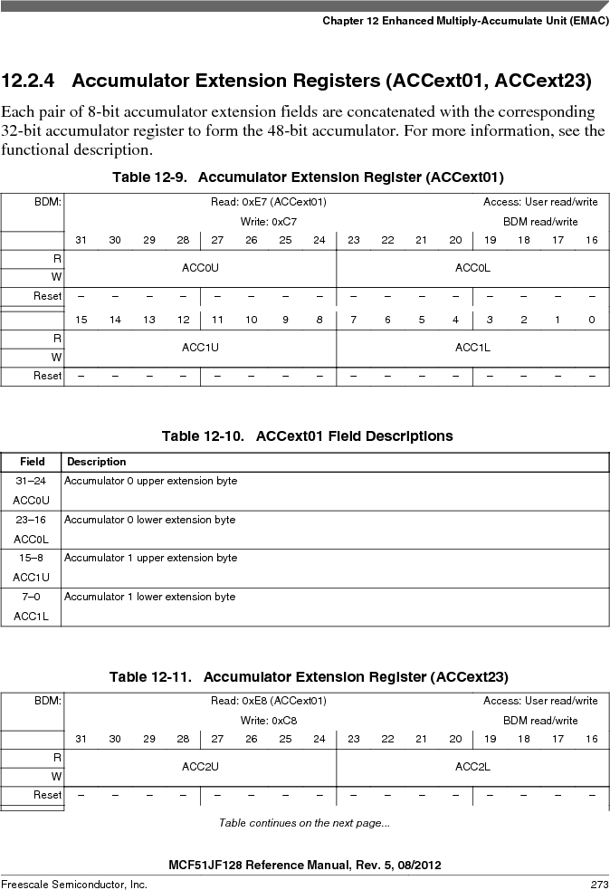 MCF51JF32VHS ,Freescale Semiconductor厂商,IC MCU 32BIT 32KB FLASH 44LGA, MCF51JF32VHS datasheet预览  第273页
