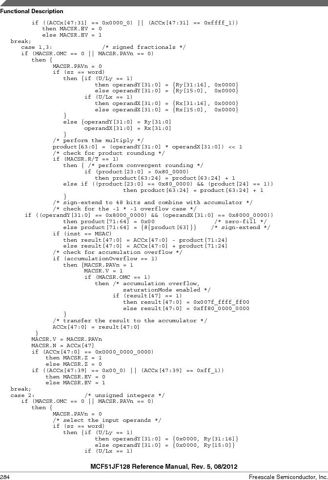 MCF51JF32VHS ,Freescale Semiconductor厂商,IC MCU 32BIT 32KB FLASH 44LGA, MCF51JF32VHS datasheet预览  第284页