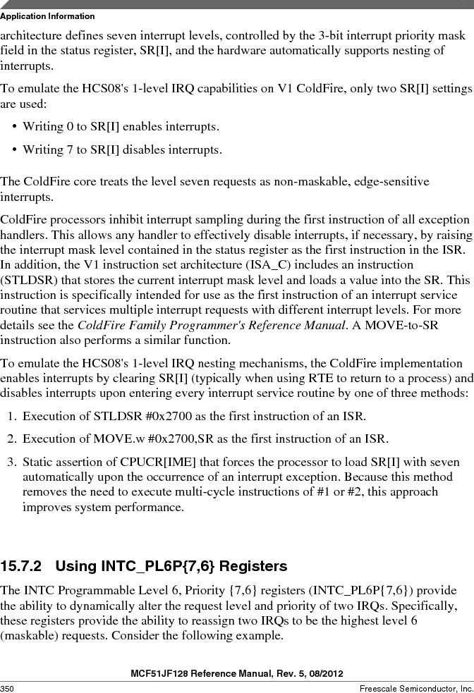 MCF51JF32VHS ,Freescale Semiconductor厂商,IC MCU 32BIT 32KB FLASH 44LGA, MCF51JF32VHS datasheet预览  第350页