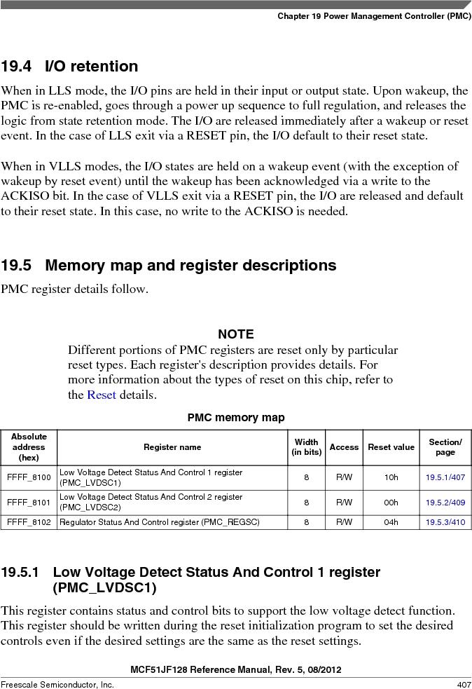 MCF51JF32VHS ,Freescale Semiconductor厂商,IC MCU 32BIT 32KB FLASH 44LGA, MCF51JF32VHS datasheet预览  第407页