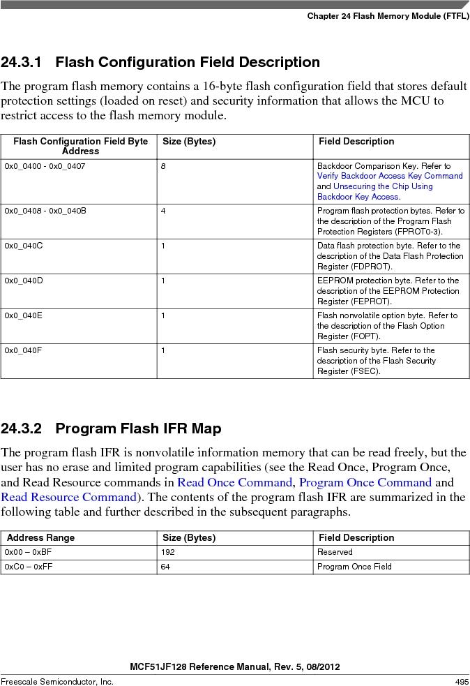 MCF51JF32VHS ,Freescale Semiconductor厂商,IC MCU 32BIT 32KB FLASH 44LGA, MCF51JF32VHS datasheet预览  第495页