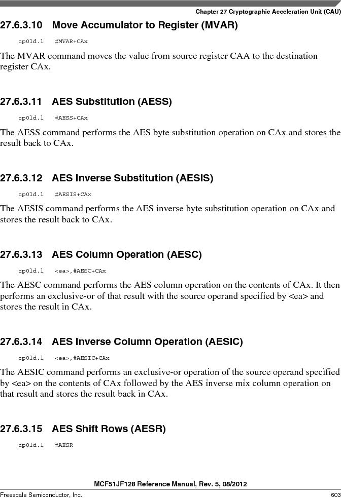 MCF51JF32VHS ,Freescale Semiconductor厂商,IC MCU 32BIT 32KB FLASH 44LGA, MCF51JF32VHS datasheet预览  第603页
