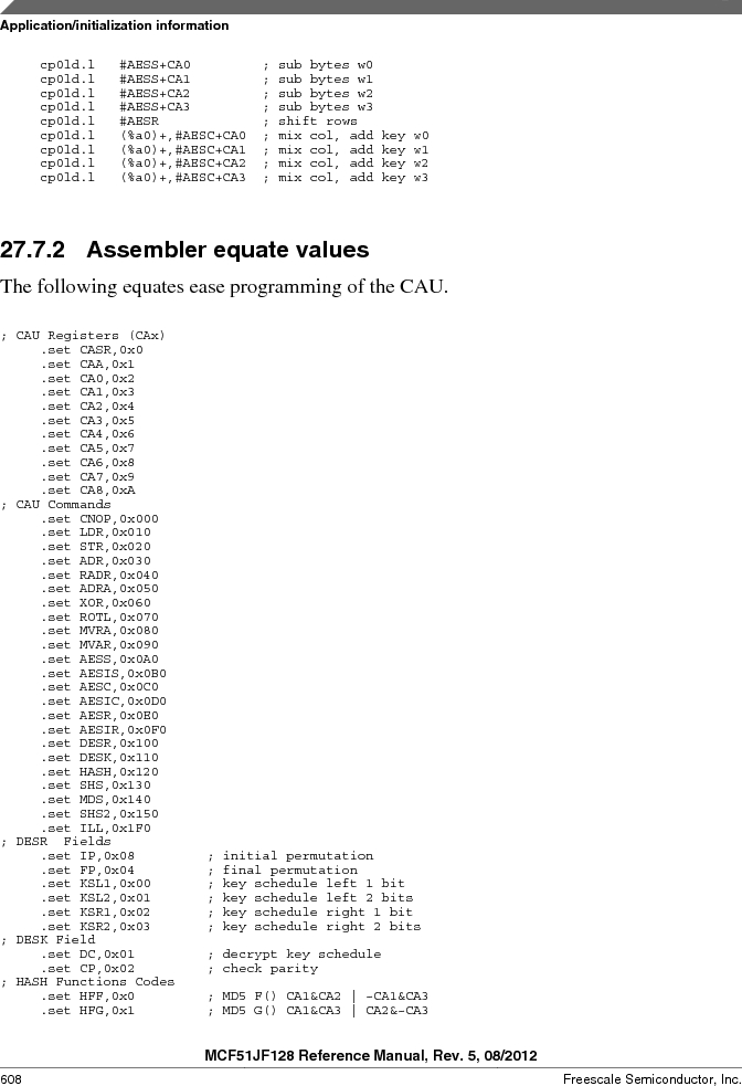 MCF51JF32VHS ,Freescale Semiconductor厂商,IC MCU 32BIT 32KB FLASH 44LGA, MCF51JF32VHS datasheet预览  第608页