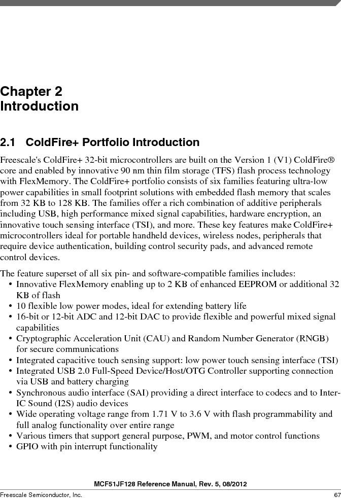 MCF51JF32VHS ,Freescale Semiconductor厂商,IC MCU 32BIT 32KB FLASH 44LGA, MCF51JF32VHS datasheet预览  第67页